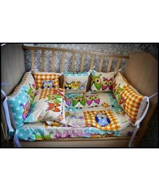 Бортики в кроватку Совята