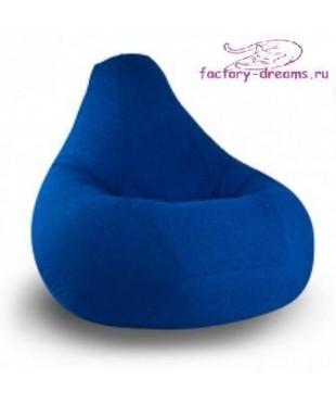 Кресло мешок голубой велюр