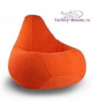 Кресло мешок оранжевый велюр