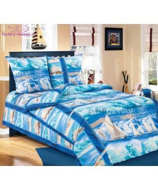 Комплект из бязи 1,5-спальный Морской Бриз
