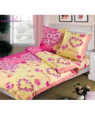 Комплект из бязи 1,5-спальный Романтика