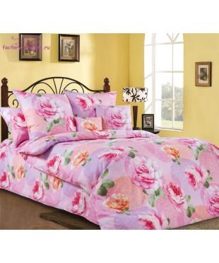Комплект из бязи 1,5-спальный Розовый рай