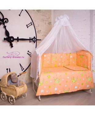Комплект в кроватку Мишки оранжевые