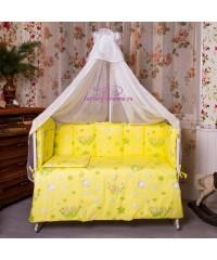 Комплект в кроватку Мишки желтые