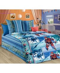 Комплект из бязи 1,5-спальный Хоккей