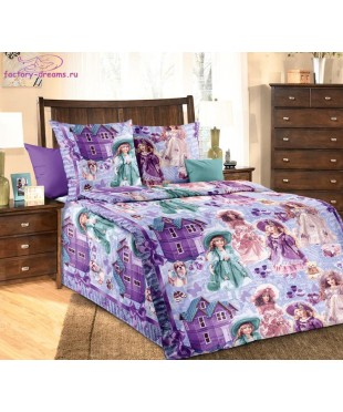 Комплект из бязи 1,5-спальный Куклы