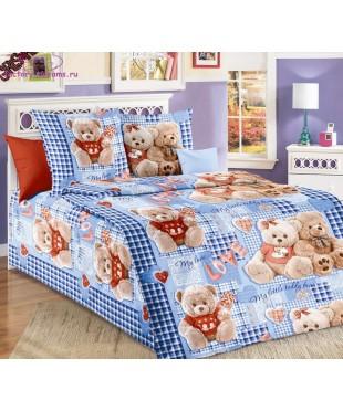 Комплект из бязи 1,5-спальный Плюшевые мишки 2