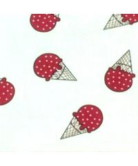 Наволочка бязь Клубничное мороженое