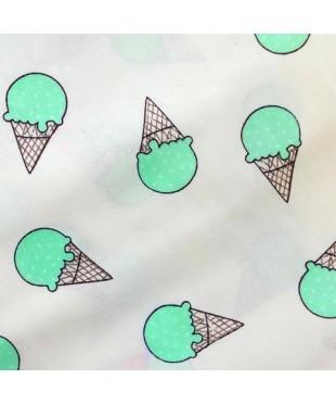 Наволочка бязь Мятное мороженое